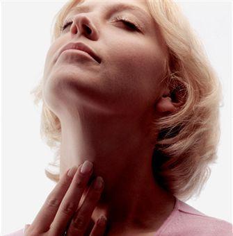 hypothyroid suffering neck exam