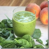 spinach and peach smoothie