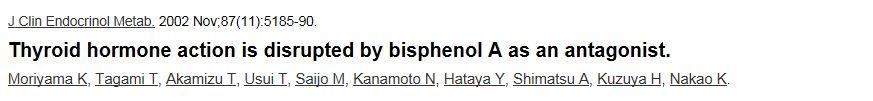 bispenol a and thyroid disruption dr hagmeyer