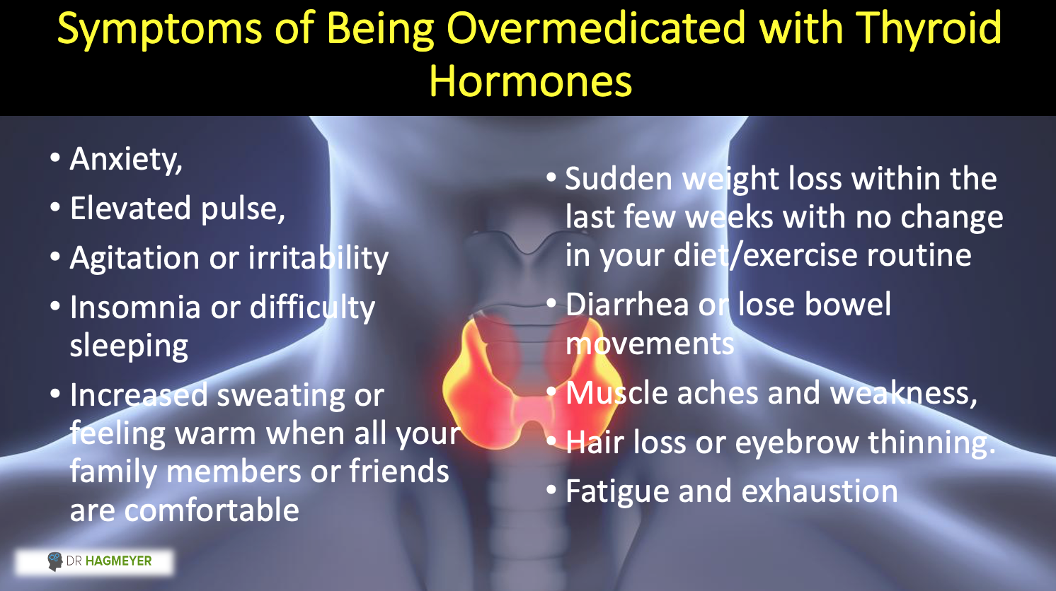 Are you being Thyroid Overmedicated- Symptoms
